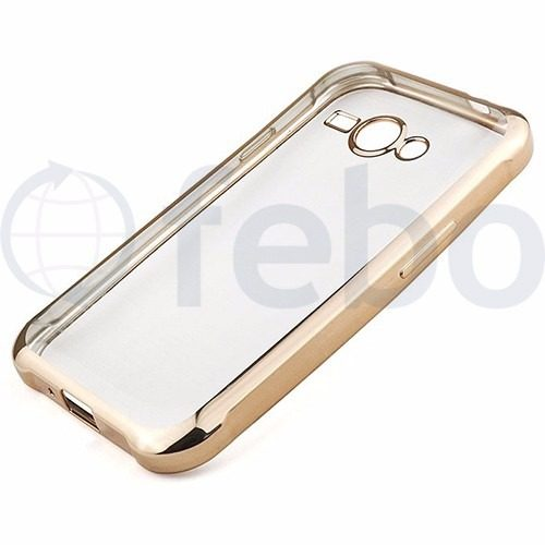 Protector Funda Slim Tpu Borde Platinado Color Samsung J1