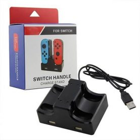 Base Cargador Joy Con Nintendo Switch 4 Mangos + 2 Usb Febo