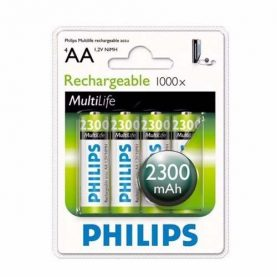 Pilas Recargables Philips Aa Pack X 4 2300 Mah Super Oferta!