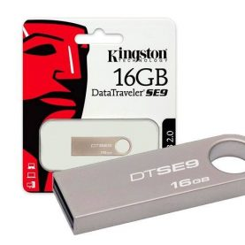 Pendrive Kingston Se9 16gb Usb Pc Notebook Audio Y+ Febo