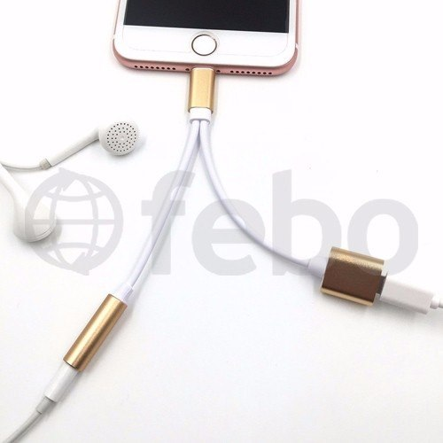 Adaptador Cable Lightning + Spica Jack Auriculares Iphone 7