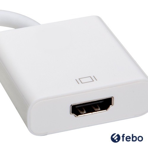 Adaptador Conversor Mini Displayport A Hdmi Hembra Mac Febo