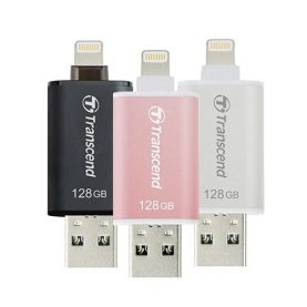 Pendrive 128gb Iphone Ipad Ipod Usb Pc Lightning Transcend