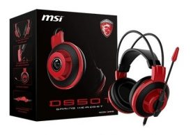 Auriculares Con Microfono Gamer Msi Ds501 Para Pc Gaming