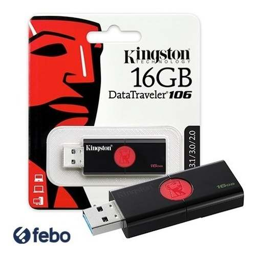 Pendrive Kingston 16gb Usb 2.0 3.0 3.1 Pc Notebook Audio Y+