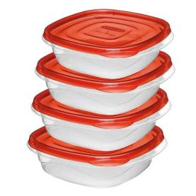 Vianda Plástica Rubbermaid Takealong 4 Piezas 669ml Febo