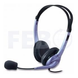 Auriculares Stereo Con Micrófono Genius Hs-4s Pc Chat Skype