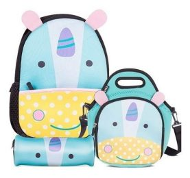 Set Mochila + Cartuchera + Lunchera Brio Unicornio Febo