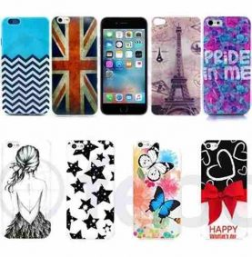 Protector Funda Slim Tpu Con Diseños Para iPhone 6 6s Plus