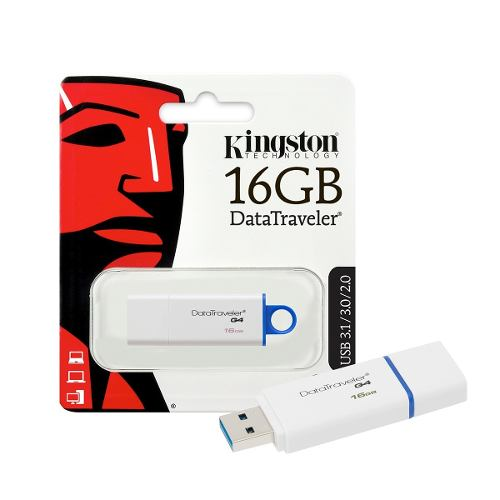 Pendrive Kingston 16gb Usb 2.0 3.0 3.1 Pc Notebook Musica Y+