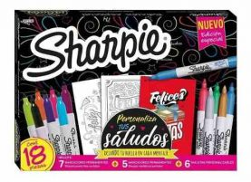 Set De Marcadores Permanentes Sharpie Pack X18 Febo
