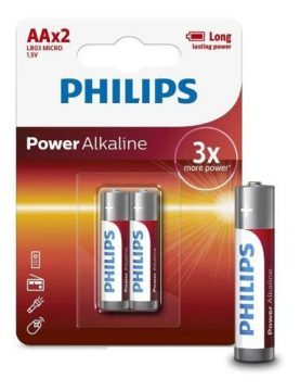 Pilas Philips Alcalinas Aa Pack X 2 Super Oferta!!! Febo