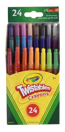 Mini Crayones X24 Twistables Crayola Colores Surtidos Febo