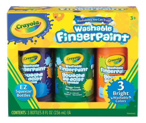 Pinturas Temperas Crayola Lavable Pack De 3 Colores Febo