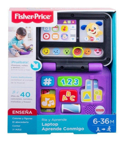 Laptop Rie Y Aprende Fisher Price Didactico Febo