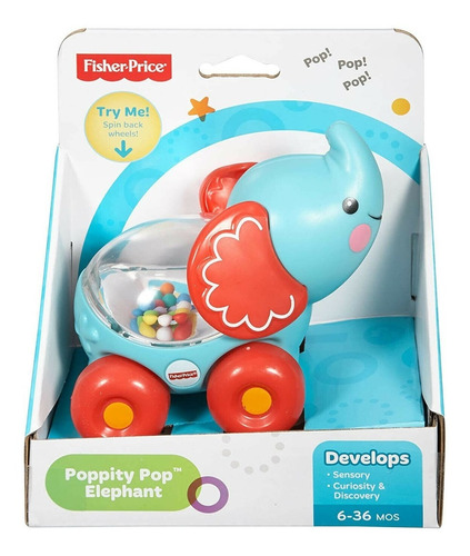 Elefante Fisher Price Vehiculo Con Pelotitas Divertidas Febo